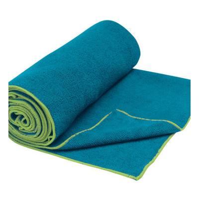 Gaiam Thirsty Yoga Mat Towel Blue Teal