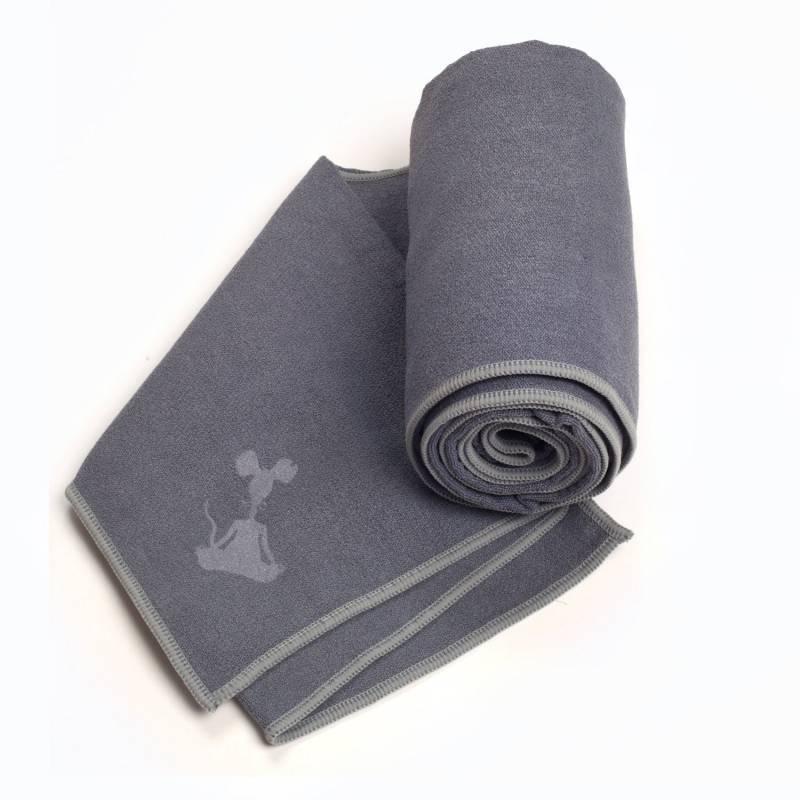 YogaRat Yoga Towel Charcoal Ash