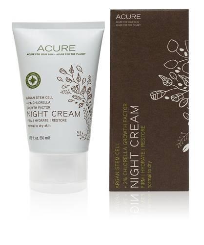 Acure Organics Night Cream Argan Stem Cell + 2% Chlorella