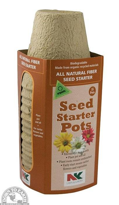 "All Natural Fiber Seed Starter Pots 3"""