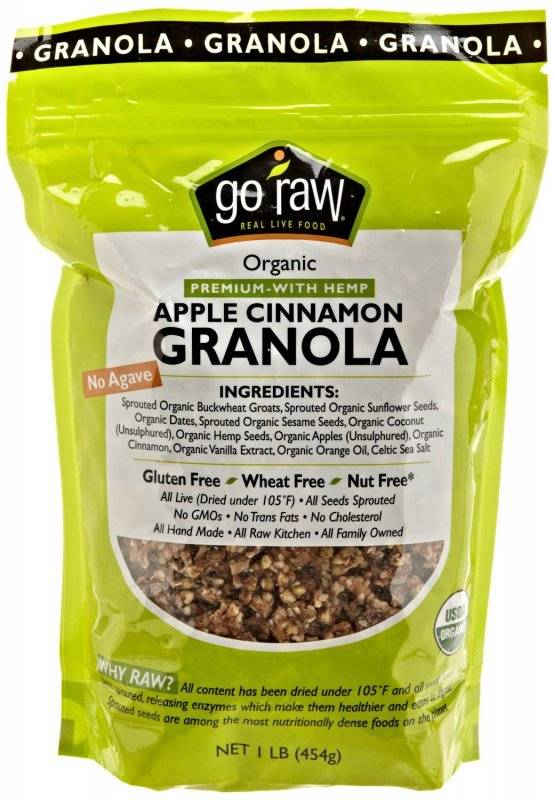 Go Raw - Go Raw Apple Cinnamon Granola 16 oz (6 Pack)