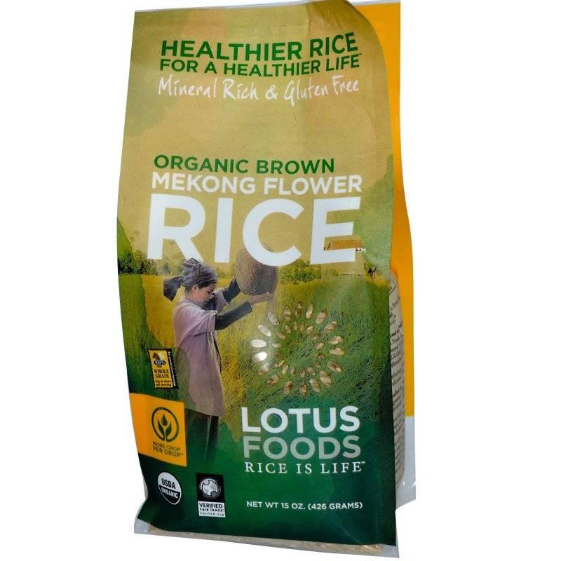 Lotus Foods Organic Mekon Flower Brown Rice 15 oz (6 Pack)