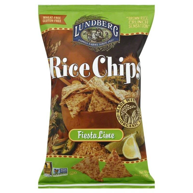 ... Farms - Lundberg Farms Organic Fiesta Lime Rice Chips 6 oz (6 Pack