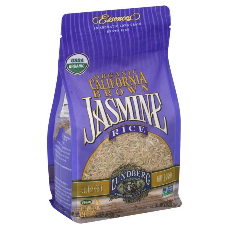 Lundberg Farms Organic Jasmine Brown Rice 2 lb (6 Pack)