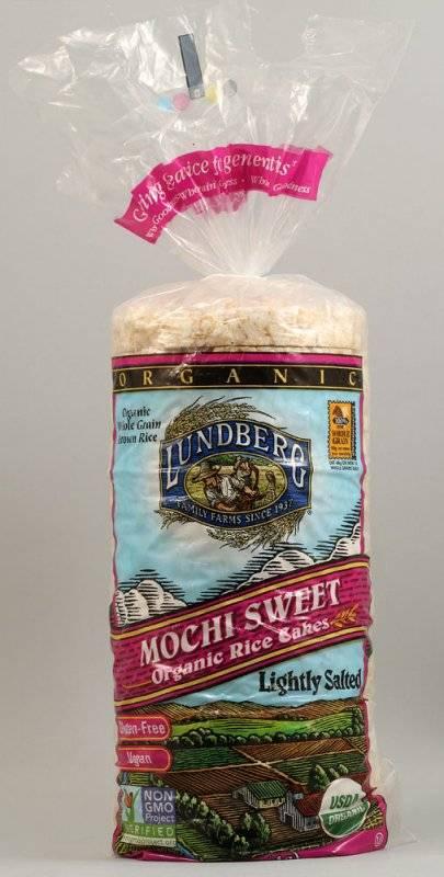 Lundberg Farms Organic Salted Mochi Sweet Rice Cakes 6 Oz