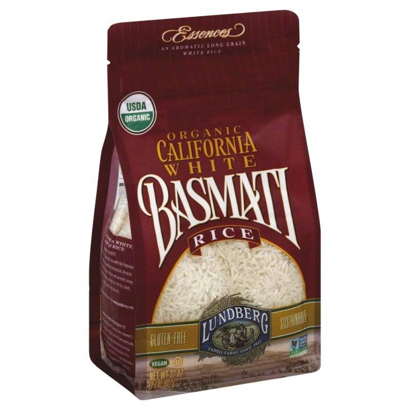 Lundberg Farms Organic White Basmati Rice 2 lbs (6 Pack)