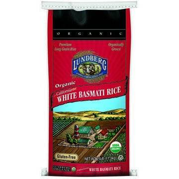 Lundberg Farms Organic White Basmati Rice 25 lbs