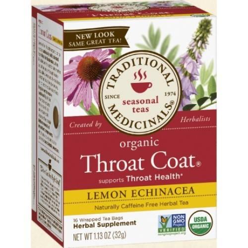 Coat throat tea