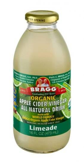 ... - Bragg Organic Apple Cider Vinegar Drink - Limeade 16 oz (12 Pack