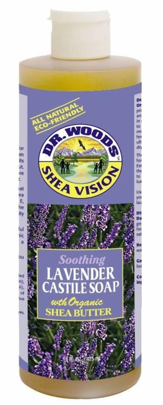 dr woods castile soap liquid lavender with shea butter 16 oz. Black Bedroom Furniture Sets. Home Design Ideas