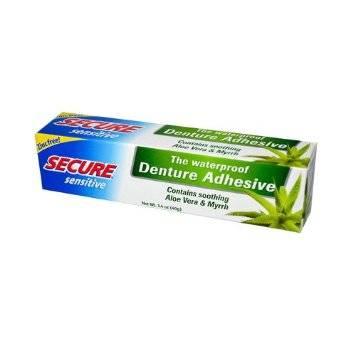 Secure Sensitive Denture Adhesive 1 4 Oz