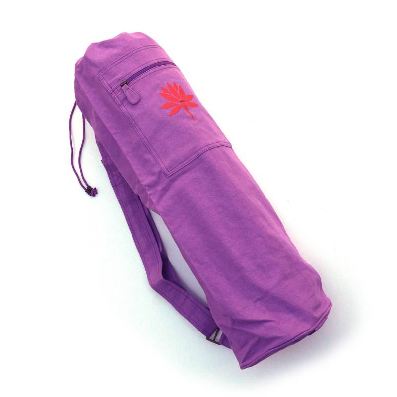 Barefoot Yoga Cotton Canvas Yoga Mat Bag With Embroidered