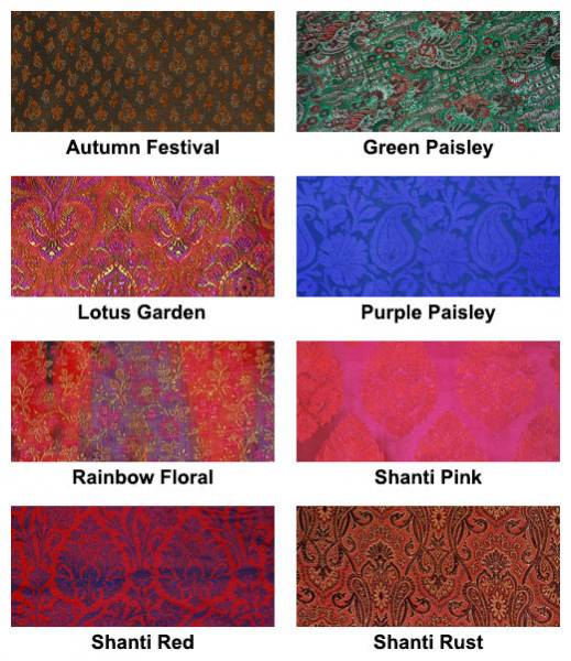 Barefoot Yoga - Barefoot Yoga Silk Sari Zafu Meditation Cushion with Carry-all Yoga Bag - Rainbow Floral