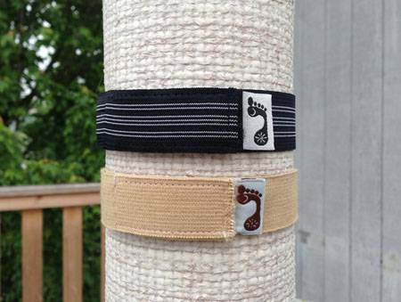 "Barefoot Yoga - Barefoot Yoga Stretchy Mat Straps 14.5"" - Black Striped"