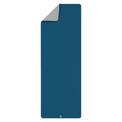Gaiam - Gaiam Banyan & Bo Earth Saver Yoga Mat 5mm - Steel blue/Sky blue