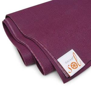 Gaiam - Gaiam Gaiam Sol Thin-Grip Yoga Mat 1mm - Mulberry