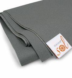 Gaiam - Gaiam Gaiam Sol Thin-Grip Yoga Mat 1mm - Slate