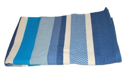 Hugger Mugger - Hugger Mugger Cotton Yoga Rug - Caribbean Blue