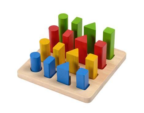 Plan Toys - Plan Toys Geometric Peg Board