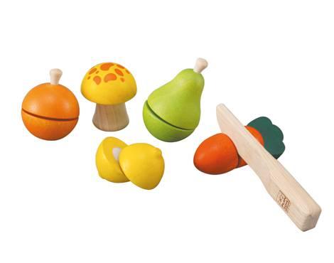 Plan Toys - Plan Toys Fruit & Vegetable Play Set