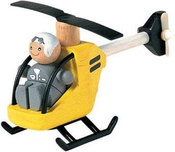Plan Toys - Plan Toys Helicopter with Pilot