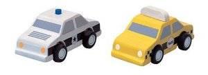 Plan Toys - Plan Toys City Taxi & Police Car