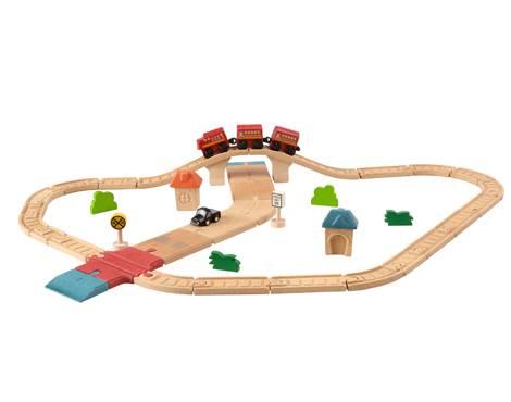 Plan Toys - Plan Toys Road & Rail Set