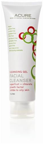 Acure Organics - Acure Organics Facial Cleanser Superfruit + Chlorella Growth Factor 4 oz