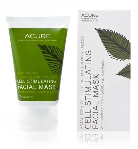 Acure Organics - Acure Organics Cell Stimulating Facial Mask Argan Stem Cell + Chlorella Growth Factor 0.75 oz