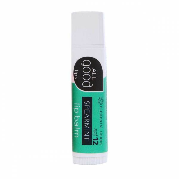 Elemental Herbs - Elemental Herbs All Good Lips - Spearmint Lip Balm SPF12