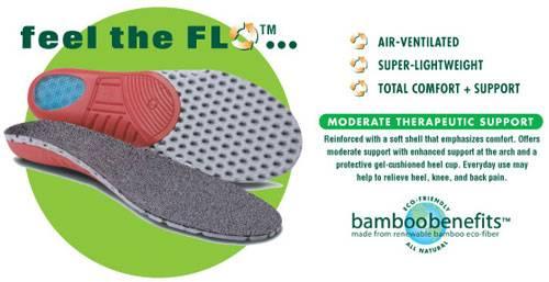 Earth Therapeutics - Earth Therapeutics Circuflo Odor Absorbing Comfort Support Insoles - Large