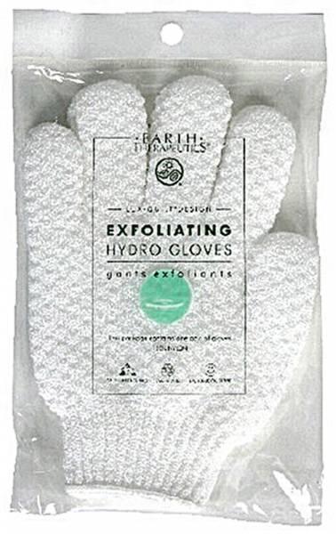 Earth Therapeutics - Earth Therapeutics Exfoliating Hydro Gloves - White