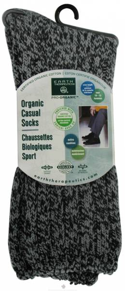 Earth Therapeutics - Earth Therapeutics Men's Basic Casual Socks - Charcoal