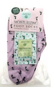 Earth Therapeutics - Earth Therapeutics Moisturizing Foot Socks w/ Foot Prints - Lavender