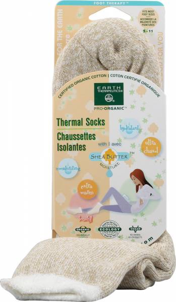 Earth Therapeutics - Earth Therapeutics Thermal Double Layer Socks - Beige/White