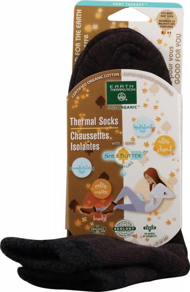Earth Therapeutics - Earth Therapeutics Thermal Double Layer Socks - Brown/Black