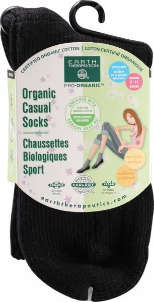 Earth Therapeutics - Earth Therapeutics Women's Casual Crew Socks - Black
