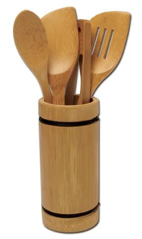 Joyce Chen - Joyce Chen Burnished Bamboo Utensil Set 5 pcs