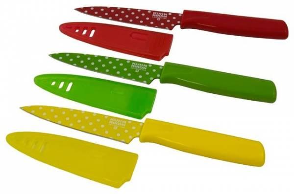 Kuhn Rikon - Kuhn Rikon Colori Polka Dot Paring Knife Set - Red/Green/Yellow