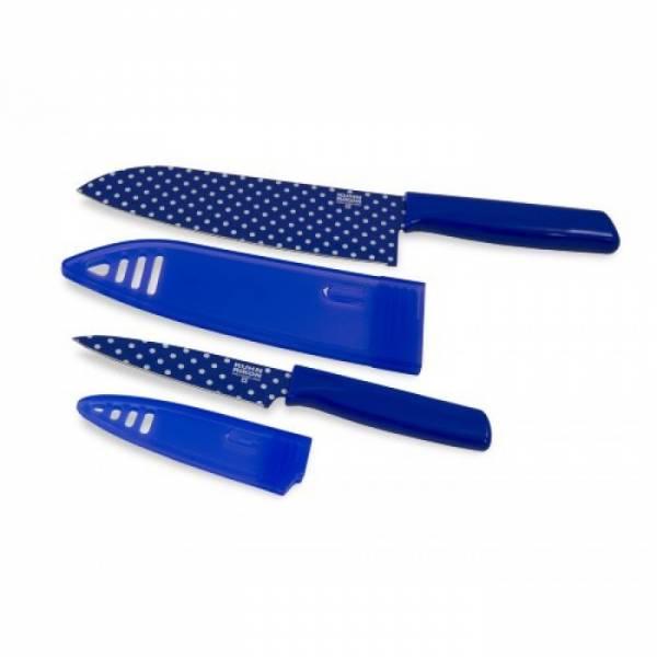 Kuhn Rikon Colori Art Chef S And Paring Knife Set Blue