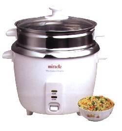 Miracle Exclusives - Miracle Exclusives Miracle Stainless Steel Rice Cooker