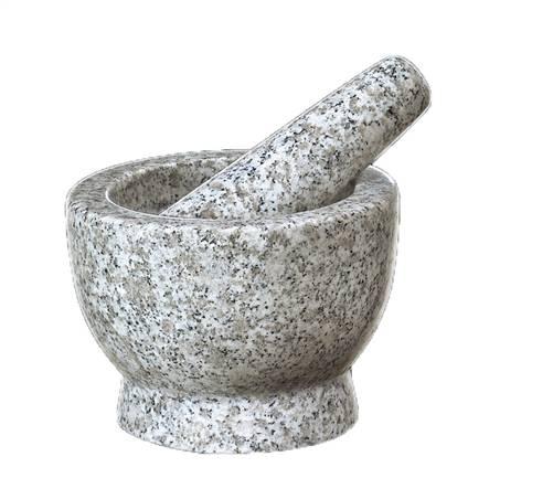 "Frieling - Frieling Mortar & Pestle Tall 4"" - Soloman White Granite"