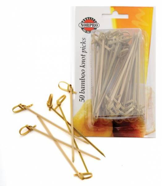 Norpro - Norpro Bamboo Knot Picks 50 pcs