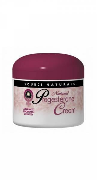 Source Naturals - Source Naturals Progesterone Cream Tube Liposomal Delivery 2 oz