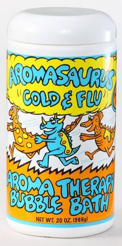 Abra Therapeutics - Abra Therapeutics Aromasaurus Kids Bubble Bath Cold & Flu Eucalyptus Lemon 20 oz