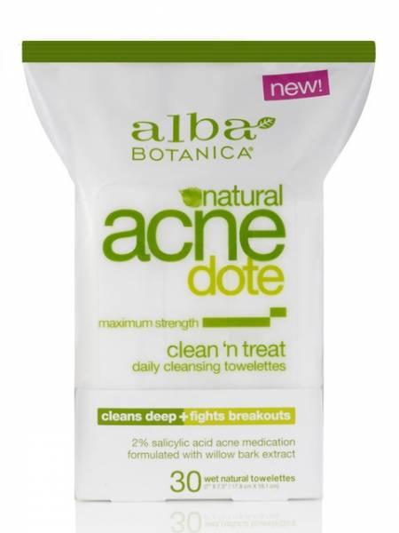 Alba Botanica - Alba Botanica AcneDote Clean & Treat Towelette 30 ct