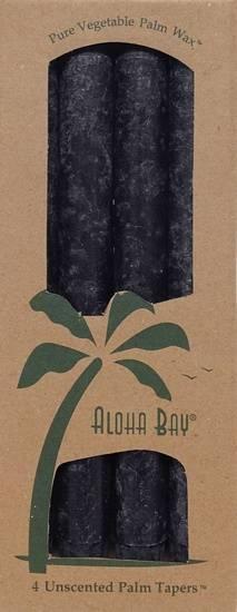 "Aloha Bay - Aloha Bay Candle 9"" Taper (4 ct)- Charcoal"