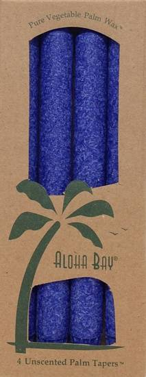 "Aloha Bay - Aloha Bay Candle 9"" Taper (4 ct)- Indigo"