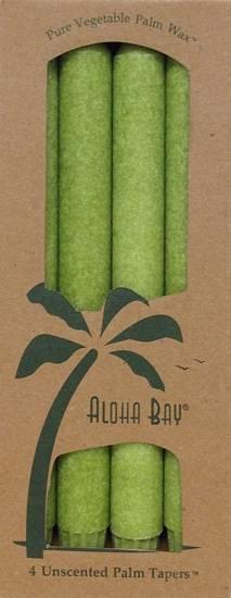 "Aloha Bay - Aloha Bay Candle 9"" Taper (4 ct)- Melon Green"