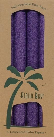 "Aloha Bay - Aloha Bay Candle 9"" Taper (4 ct)- Violet"